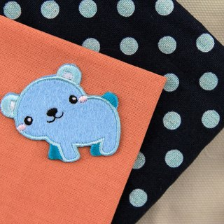 Bear cute self-adhesive embroidered cloth stickers - Forest cute animal series