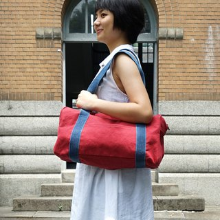 Mushroom MOGU / Canvas Shoulder Bag / Watermelon Red / Boston