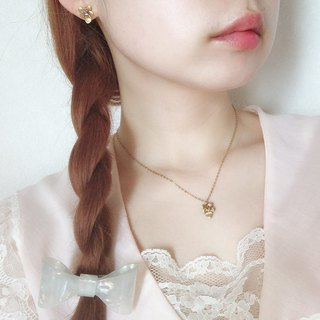 すみれネックレス Harajuku kawaii Girly Vintage antique