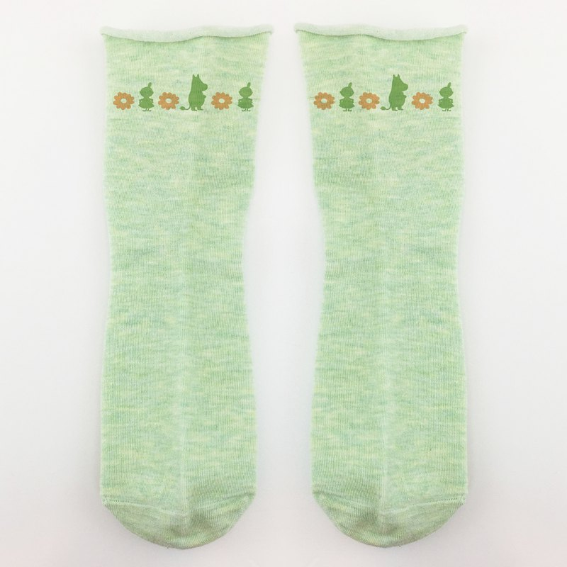 Moomin 噜噜米 authorized - rolled stockings (green), AE04