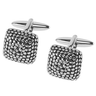 Antique Black Polka Dots Cufflinks