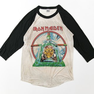 [3thclub ming ren tongang] classic iron Maiden group tee sleeves iron lady aces high version vintage BTE-008