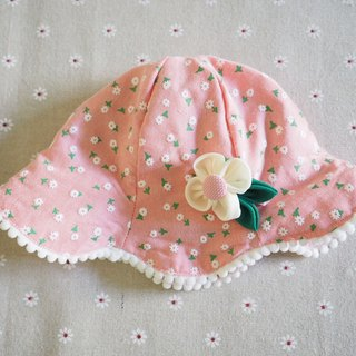 Handmade Baby/ Kid Hat and hair clip set with flower printing