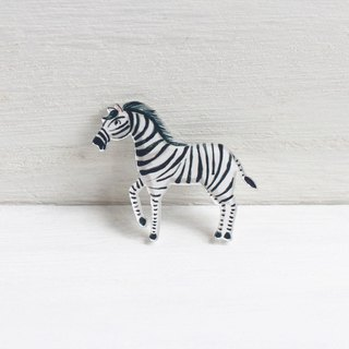 Zebra small badge I Forest Daily