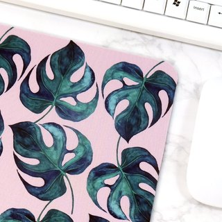 Natural Pattern Mouse Pad Green Leaves Desk Decorations Office Accessories