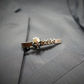 Customized English letter Swarovski SWAROVSKI crystal 骷髅 tie clip