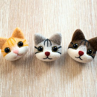 Petwoolfelt - Needle-felted tabby cat accessories (bag charm / necklace)