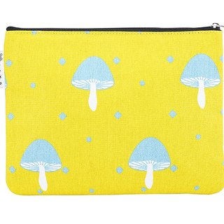 Nordic fairy tale pattern - canvas stationery make - up debris electronic bag - mushroom pattern