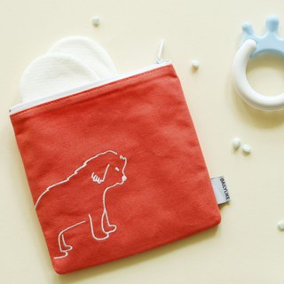 Small fresh embroidery storage bag -07 puppy, E2D16388