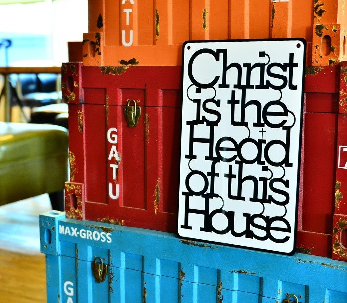 Christ is the Head of this House  Scripture ornaments/Wall stickers/Decorations/Gifts