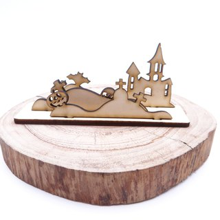 Halloween Maple Wooden Card Holder