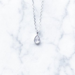 ::Shimmer Light Series:: Ice Drop (Classic) Basic Cut Silver Clavicle Chain