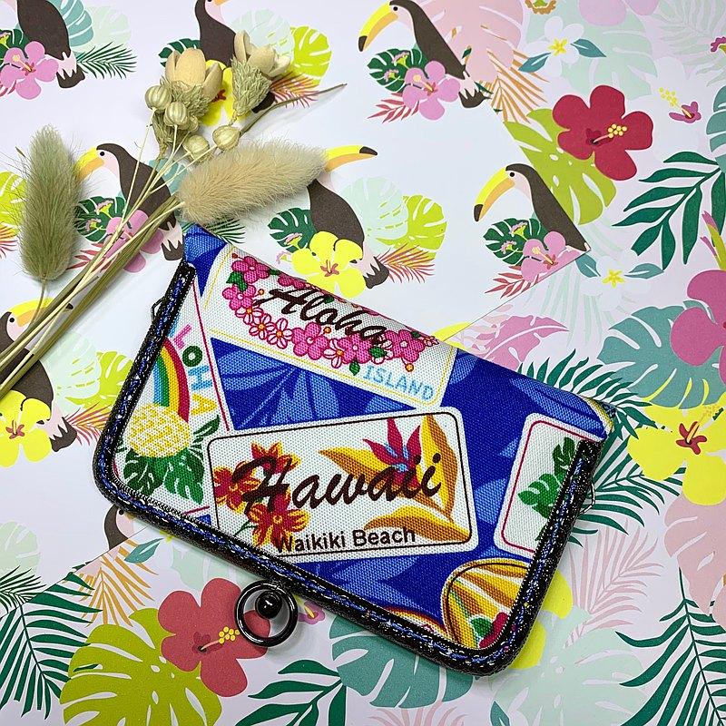 夏日Hawaii口金卡片夾/卡包/拍立得相本/名片夾/免費聖誕包裝/交換禮物