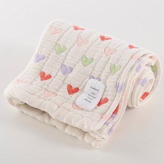 [Japan made immediate crepe] six heavy yarn towel - color love