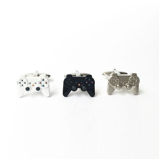 Game Controller Cufflinks Black/White/Silver Game Contraller Cufflink