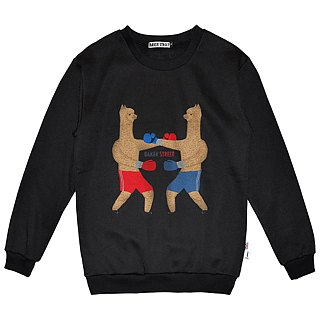 British Fashion Brand -Baker Street- Boxing Alpaca Printed Sweater