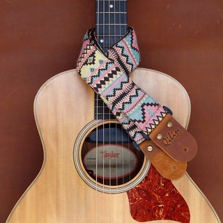 Pink-Blue Woven Guitar Strap