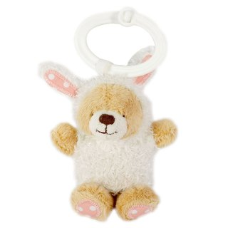 3.5吋/rabbit bear key ring【Hallmark-ForeverFriends fluff-key ring series】