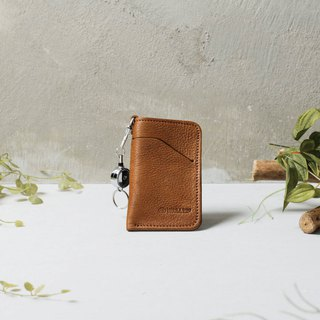 Leather telescopic ticket card ticket card holder card set gift custom lettering DG37