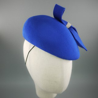 Wool felt beret hat  hair fascinator  millinery