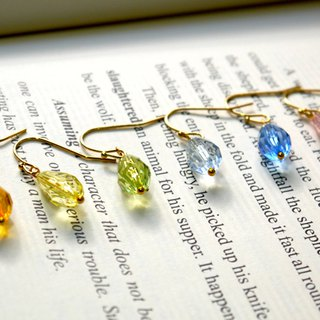 SL307 Light you up Rainbow transparent earrings (7 colors)