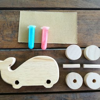 DIY wooden toy - WHALE