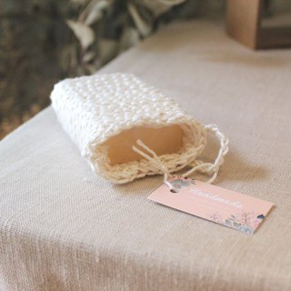 Hand-woven cotton soap bag