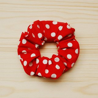 Big round hair bundle _ red / large intestine donut hair ring