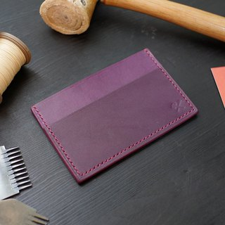 [Christmas limited offer] simple business card holder - purple [Fu Lie area carved leather]