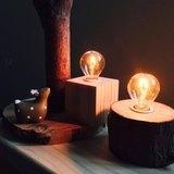 暖心小夜燈│樟樹原木│手作