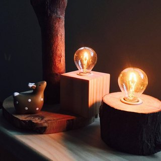 Warm heart night light │ Yushu logs │ hand-made