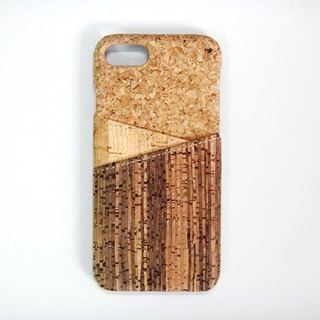 Mixed Cork iPhone 8 8 Plus 7 and iPhone 7 Plus iPhone 6S Samsung Galaxy S8 case 2 Cards Cork case phone case cover card slots card holder