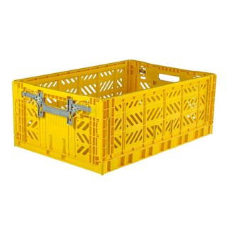 Turkey Aykasa folding basket (L) - bright yellow