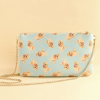 Kiki Golden Retriever Dog 2 Way Purse-Crossbody/ Clutch