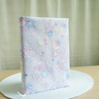 Lovely Japanese cloth [hot silver onion double-sided cloth book book purple shell] cloth book cover 15X21cm, A5 hand account