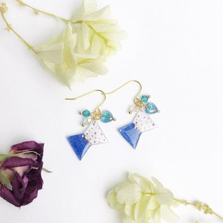 Heart of Ocean with Ribbon Earrings