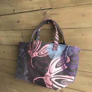 Hand-printed small bag