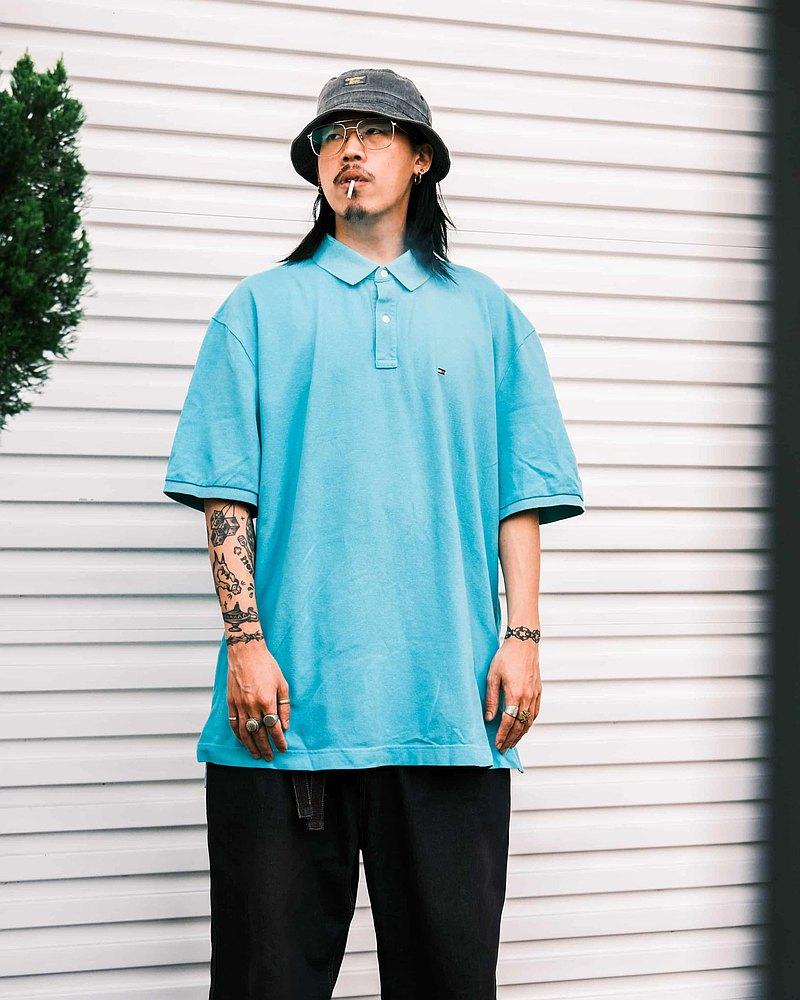 **多款可選** 古著 Polo衫 上衣 條紋 素色【Tsubasa.Y 古著屋】
