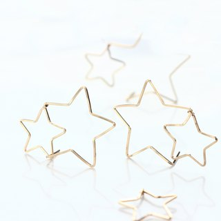 14kgf- POP STAR pierced earrings