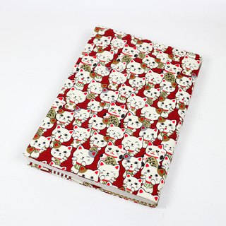 A5 cloth book cover mother book cloth book cover book - Lucky cat (red)