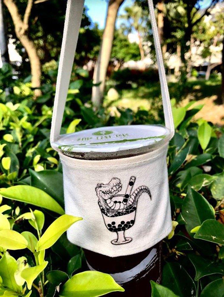 珍奶鱷魚-環保飲料提袋