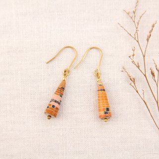 MUSEV Orange Contrast Small Awl Earrings