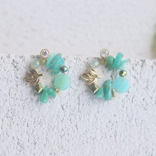 Tianhe Stone Crystal Earrings 1110 - Girls