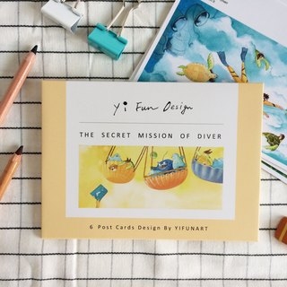 Marine postcards - the secret task of the diver