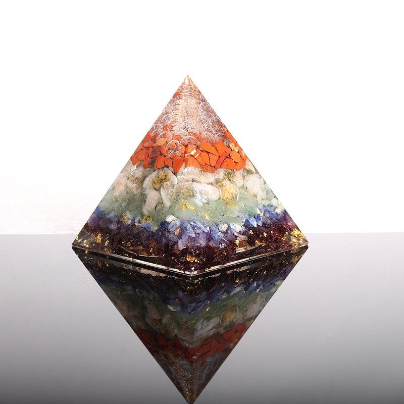 純淨之柱Plus-大奧剛金字塔Orgonite水晶礦石金屬淨化開運祈福靈