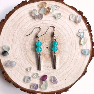 J004-natural stone bead string earrings ice species Tianhe stone after rain drops
