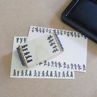 Handmade rubber stamp Walk and run