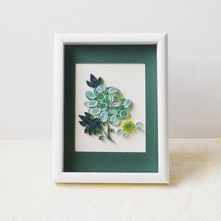 Hand-made history Museum of cultural and creative authorized flower and dance embroidery series 3 scroll framed works gift box