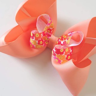 Bonbon Baby Double Bow Hairpin #北欧花# Pink