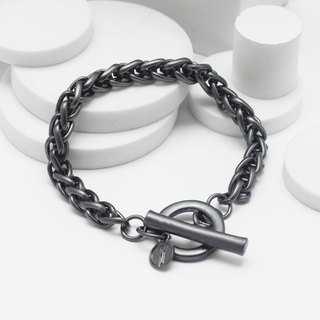 Recovery Crushed Twist Bracelet (Black Silver)